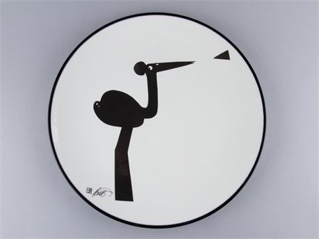 Howard Smith Wall Plate Piper Drummer Series Arabia