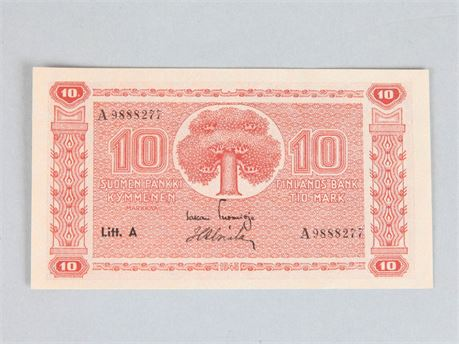 10 Mark Banknote 1945 Finland